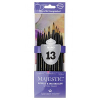 Kit de Pincel com 13 pincéis redondos linha Majestic