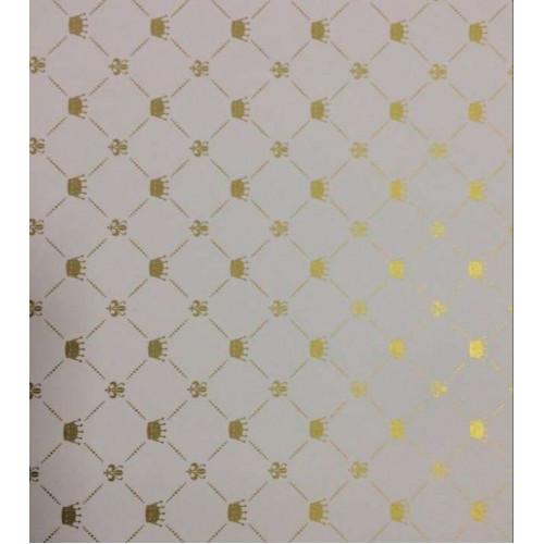 Papel 180g/m² Coroa Branco E Dourado - Tam. 30,5 X 30,5 cm