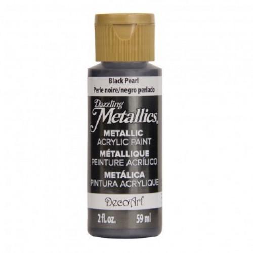 Tinta Decoart Dazzling Metálica Black Pearl