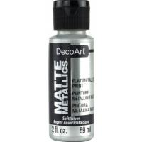 Tinta Decoart Matte Metallics - Soft Sil..