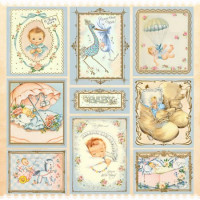 Papel 180g baby boy dupla face 30,5 x 30,5