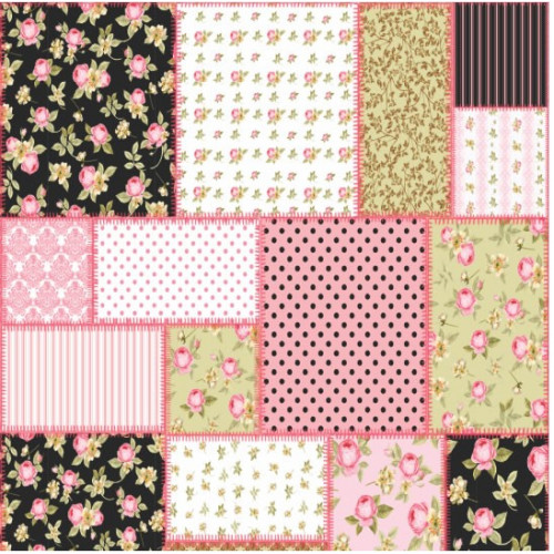Papel 180g patchwork 2 dupla face 30,5 x 30,5
