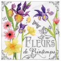 Guardanapo Fleurs de Printemps - 2 unid..