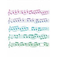 stencil pauta musical - 18x23