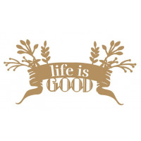 life is good - 2 unid - 17x8.5cm..