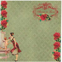 papel love is in the air 5 - 180g dupla face 30.5x30.5