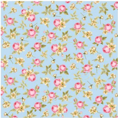 papel flores miúdas 180g dupla face 30.5x30.5