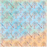 papel tribal 3 - 180g dupla face 30.5x30.5
