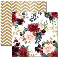 Papel Floral 6 - 180g Dupla Face 30.5x30.5