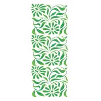 Stencil Fundo Floral - 12x28