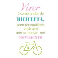 Stencil Viver é como andar de bicicleta - 18x23