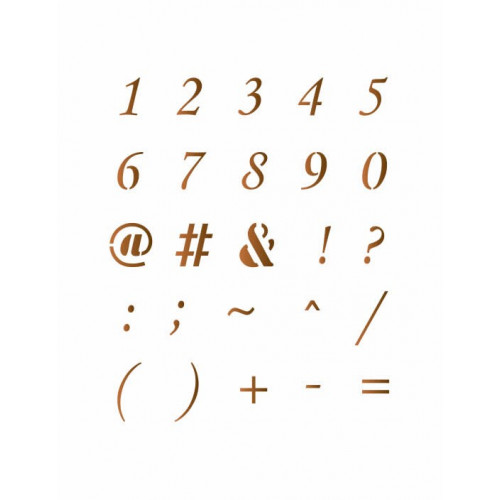 stencil números 13x17