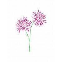 stencil flor - 13x17..