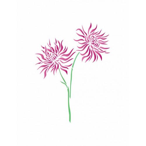stencil flor - 13x17
