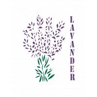 stencil lavander - 13x17