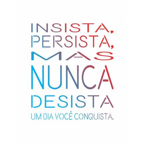 stencil frase insista - 13x17