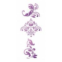 stencil 3 arabescos - 12x28