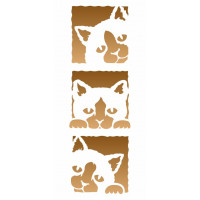 stencil 3 gatinhos - 12x28