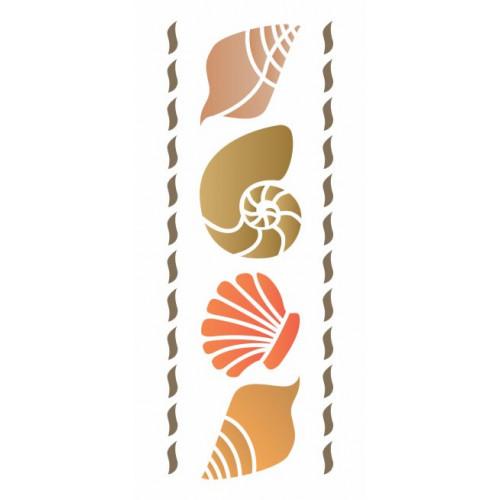 stencil conchas mar - 12x28