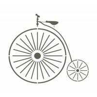 stencil bicicleta antiga - 15x15