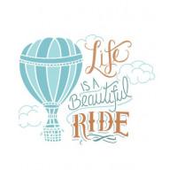 stencil life is a beautiful balão - 15x15