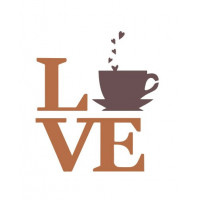 stencil Love Coffee - 15x15..