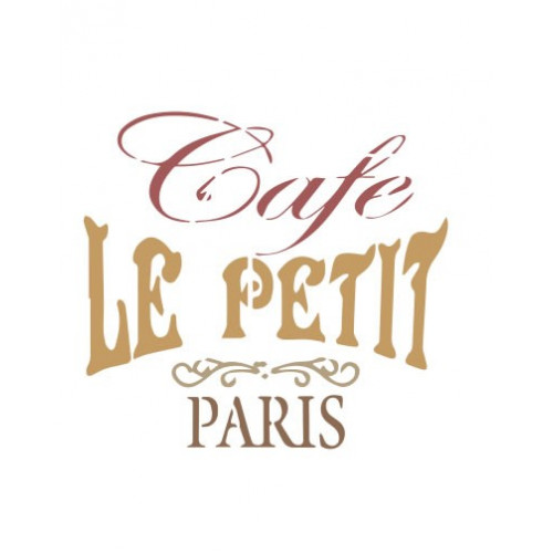 stencil café Paris - 15x15