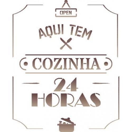 stencil cozinha 24 horas - 18x23
