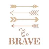 stencil tribal be brave - 18x23