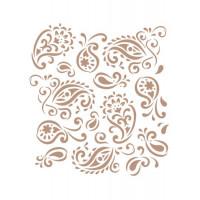 stencil fundo arabescos - 18x23