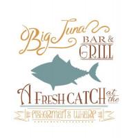 stencil big tuna - 18x23