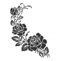 Stencil Rosas - 18x23..