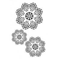 Stencil Mandala Floral - 18x23