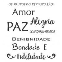 Stencil Amor, alegria, paz... - 18x23