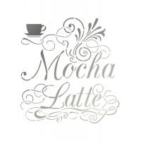 Stencil Café Mocha Latte - 18x23..