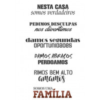 Stencil frases Nesta Casa - 2 unidades - 32 x 24,5