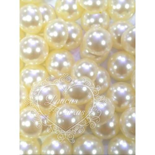 Chatons em Perola Lisa 4mm - 10g - Marfim