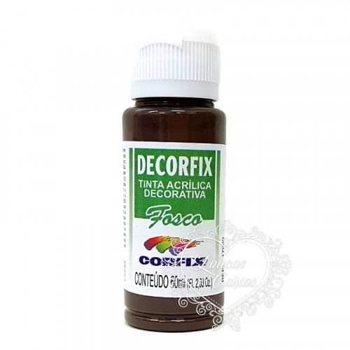 Tinta Acrílica fosca DECORFIX - 60ML - DARK CHOCOLATE