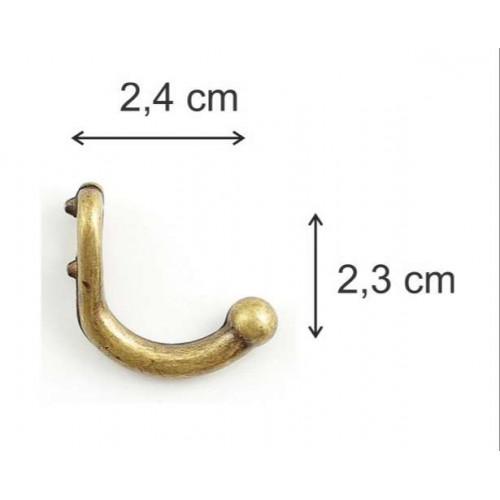 Ganchos M - 5 Unid - 2,4 cm - dourado, ouro velho, prata, prata velho, cobre velho ou grafite