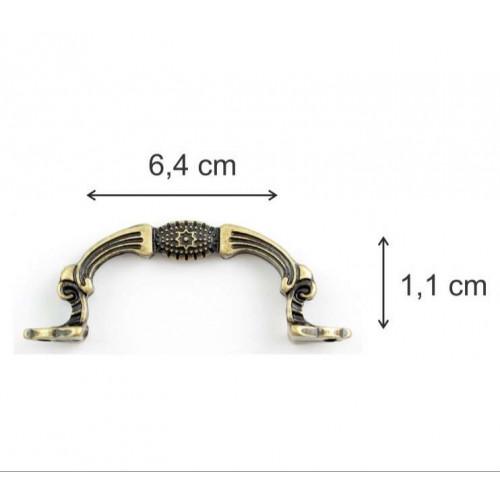 Puxador alça - 2 unid - ouro velho, prata velho, dourado, prata - Parafusos vendidos a parte