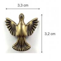 Pé pássaro - 4 unid - ouro velho ou niquelado - parafusos vendidos a parte