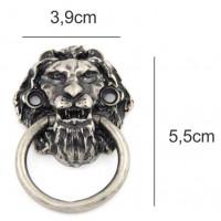 Puxador leão - 2 unid - prata velho ou ouro velho  - Parafusos vendidos à parte