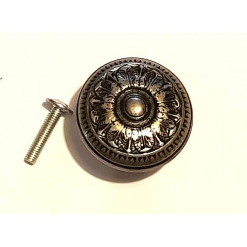 Puxador redondo M  - Prata velho ou ouro velho com parafuso
