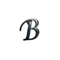 Aplique Metálico Letra B