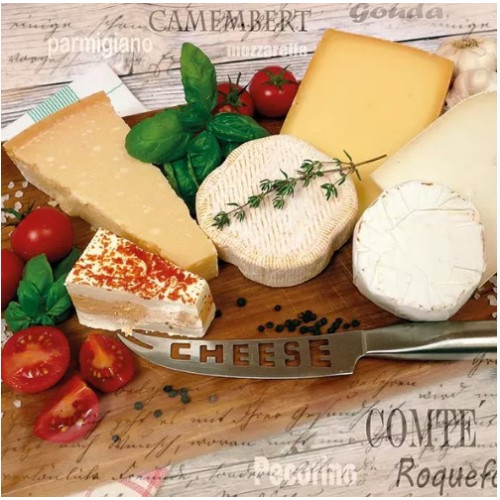 Guardanapo Palette of Cheeses - 2 unid