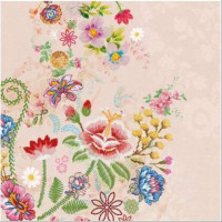 Guardanapo Embroidery Flowers Rose - 2 u..