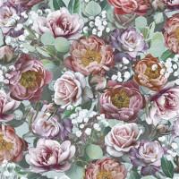 Guardanapo Vintage Flowers Green - 2 uni..