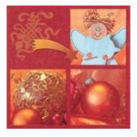 guardanapo wooden angel  - 2 unid