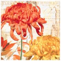 Guardanapo Flores Laranja e Amarela - 2 unid.