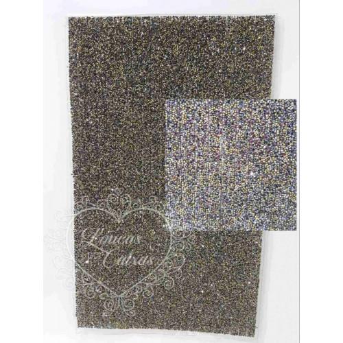 Manta de Pedras - Preto e Dourado - 40x24 cm